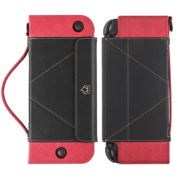 ニンテンドースイッチ ケース スタンド機能 カバー 任天堂 switch ケース 高級レザー製 全面保護 贈り物 ギフト Nintendo Switch 手帳型 保護フィルム|dorarecoya|12