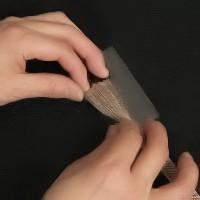 帯留め金具の通し方