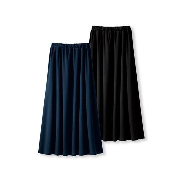 パジャマ・ルームウェア 大きいサイズ ゆったり マキシスカート 8L 10L 2枚組 ロングスカート ニッセン|dorismieux-bynissen|08