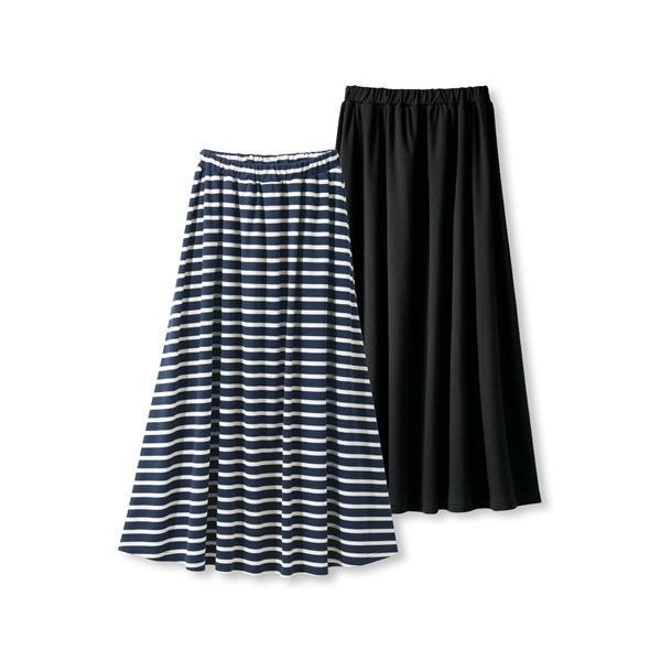 パジャマ・ルームウェア 大きいサイズ ゆったり マキシスカート 8L 10L 2枚組 ロングスカート ニッセン|dorismieux-bynissen|09