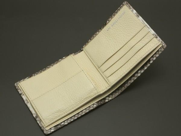 パイソン二つ折り財布