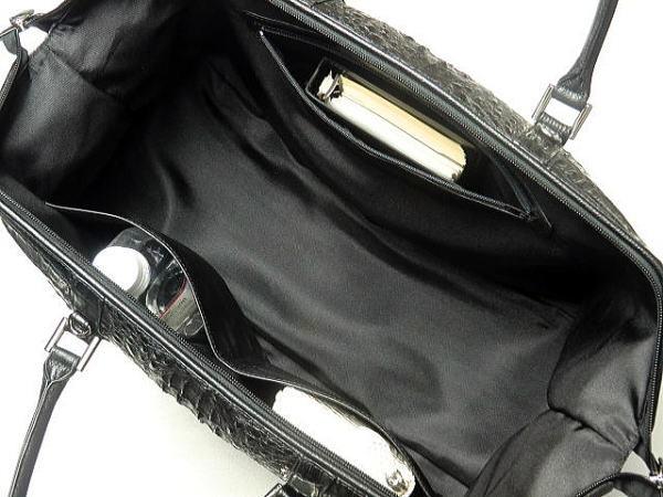 95e88cf6d66b ボストンバッグ 本革 カイマンクロコダイル 旅行用バッグ ブラック 機内持ち込み可能 旅行カバン カイマン 黒 送料無料 /【Buyee】