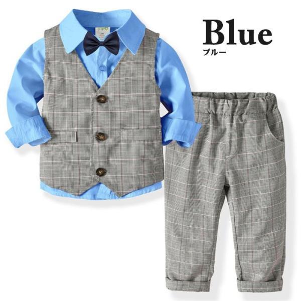 子供 スーツ 4点セット 男の子 ベビー フォーマル スーツ 子供服 赤ちゃん キッズ フォーマル 男の子 80 90 100 110 120 130|dreamkikaku|11