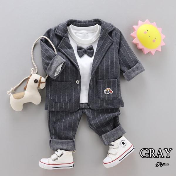 男の子 フォーマル ベビースーツ ストライプ スーツ 子供服 ベビー服 紳士風 フォーマル 赤ちゃん 子供 男の子|dreamkikaku|10