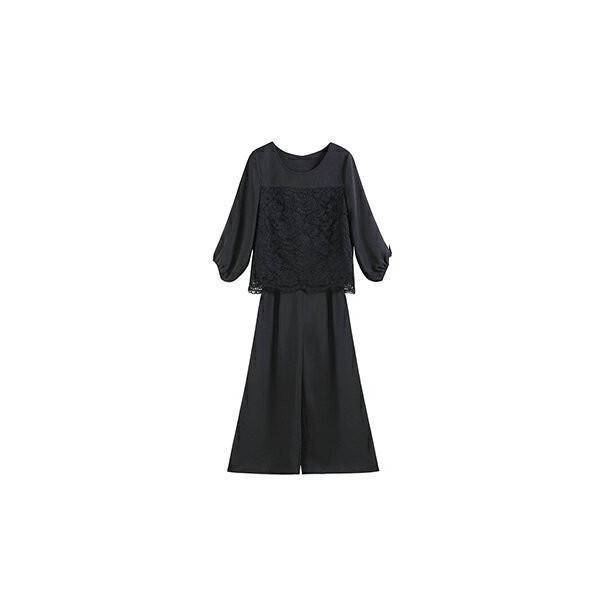 卒業式 卒園式 パンツドレス 結婚式 袖あり 大きいサイズ レース レディース ワイド パーティー ドレス セットアップ|dressstar|22