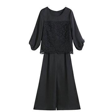 パンツドレス 結婚式 袖あり 大きいサイズ レース レディース ワイド パーティー ドレス セットアップ 卒業式 卒園式|dressstar|22