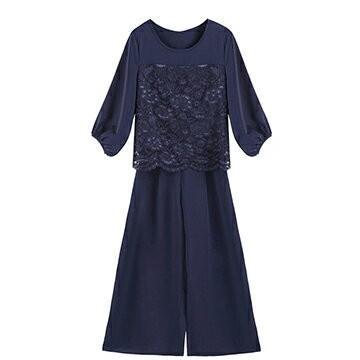 パンツドレス 結婚式 袖あり 大きいサイズ レース レディース ワイド パーティー ドレス セットアップ 卒業式 卒園式|dressstar|21
