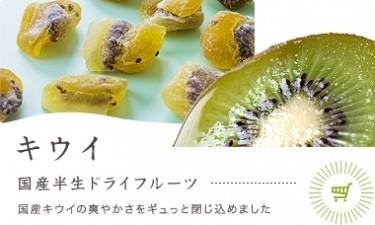 キウイ 国産半生ドライフルーツ  国産キウイの爽やかさを ギュっと閉じ込めました