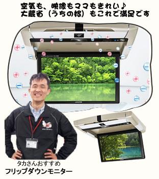 フリップダウンモニターPCX-R3500