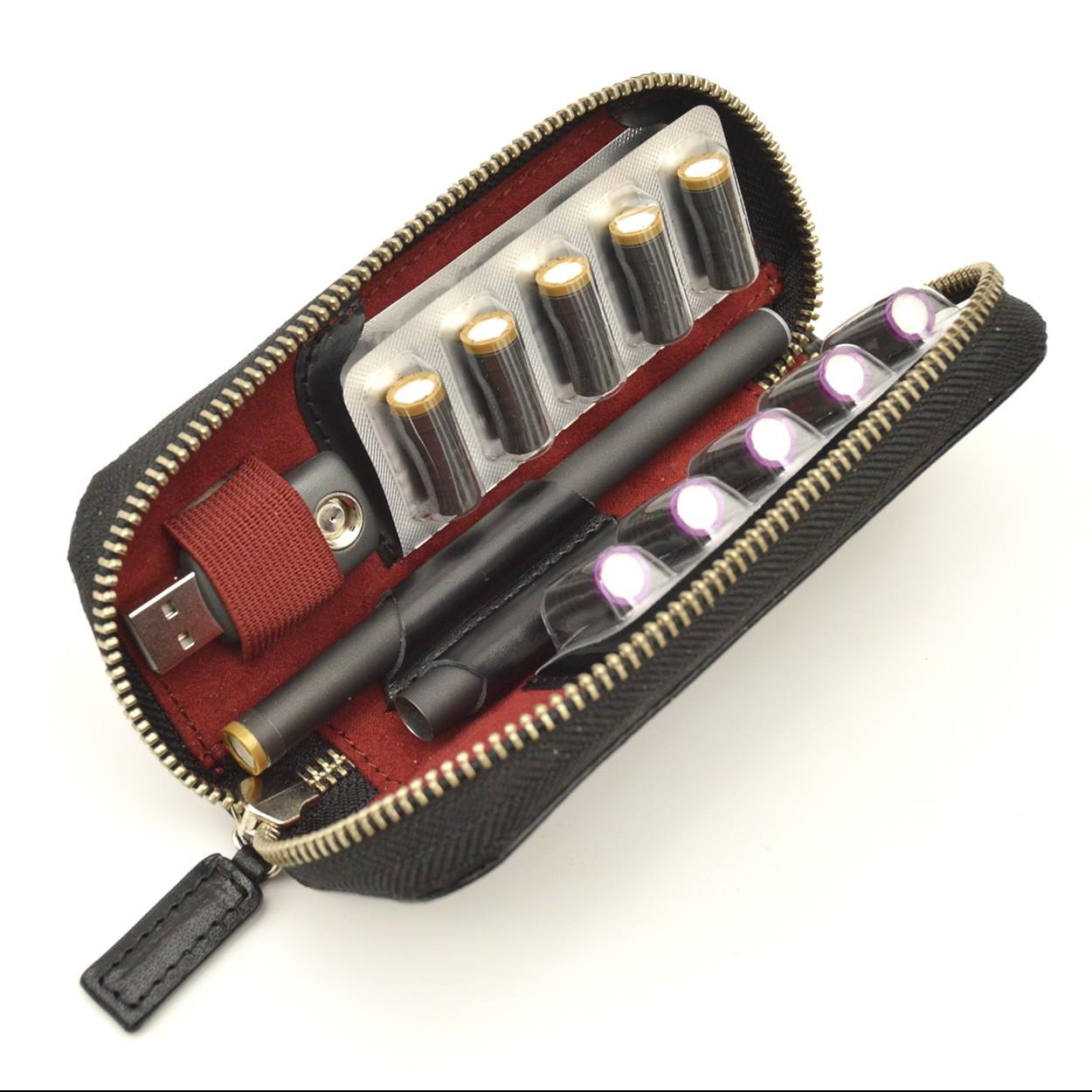 プルームテックケース [Ploom TECH] コンパクト ブライドルレザー おしゃれ 革 2セット収納 本革製 DUCT(ダクト) BL-820