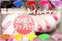 猫用ソフトネイルキャップ(ネイルカバー)20個セット(専用接着剤&説明書付き) XS〜Lサイズ【レビューを書いてメール便送料無料】