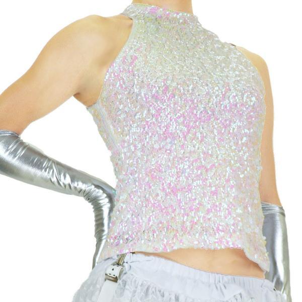スパンコール 衣装 アメスリスパンコールトップス ハイネック ノースリーブ ハロウィン コスプレ ダンス  ダンス衣装 ステージ衣装 発表会 HD58799|e-dance-fitness|09