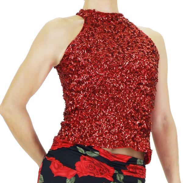 スパンコール 衣装 アメスリスパンコールトップス ハイネック ノースリーブ ハロウィン コスプレ ダンス  ダンス衣装 ステージ衣装 発表会 HD58799|e-dance-fitness|11