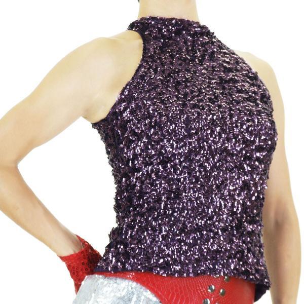 スパンコール 衣装 アメスリスパンコールトップス ハイネック ノースリーブ ハロウィン コスプレ ダンス  ダンス衣装 ステージ衣装 発表会 HD58799|e-dance-fitness|13
