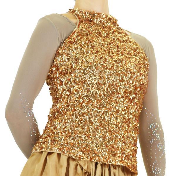 スパンコール 衣装 アメスリスパンコールトップス ハイネック ノースリーブ ハロウィン コスプレ ダンス  ダンス衣装 ステージ衣装 発表会 HD58799|e-dance-fitness|15