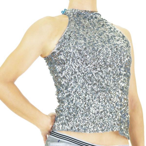 スパンコール 衣装 アメスリスパンコールトップス ハイネック ノースリーブ ハロウィン コスプレ ダンス  ダンス衣装 ステージ衣装 発表会 HD58799|e-dance-fitness|16