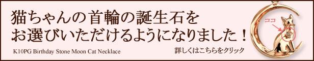 大人気の月猫ネックレス待望の誕生石バージョン登場!