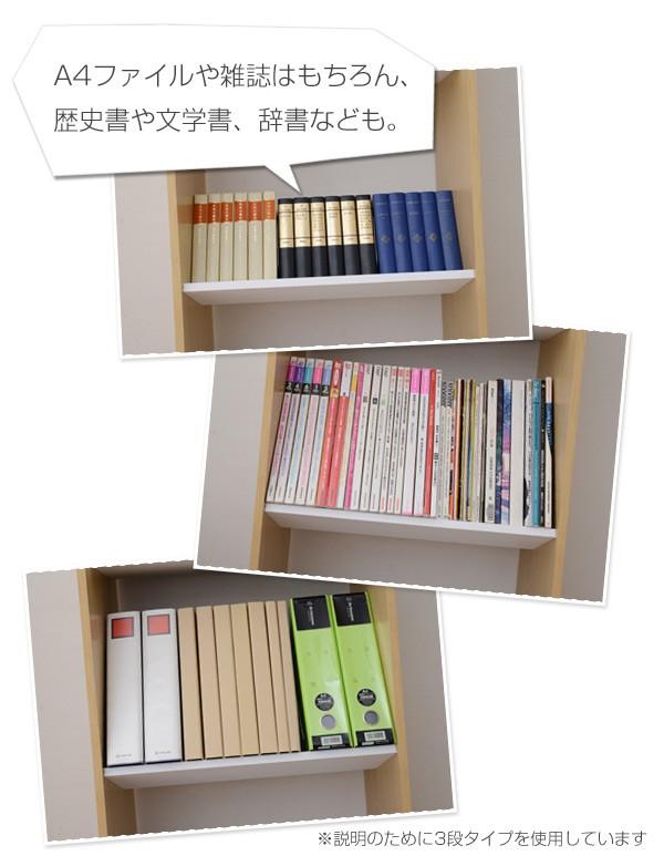 A4ファイルや雑誌はもちろん、歴史書や文学書、辞書なども