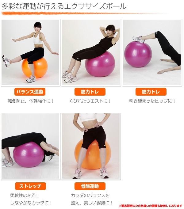 エクササイズボール 55cm