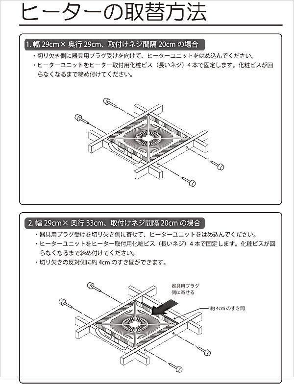 ヒーターの取替方法