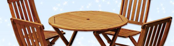 フォールディングテーブル&チェア(5点セット)
