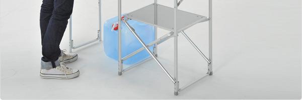 天板の高さは2段階に設定可能