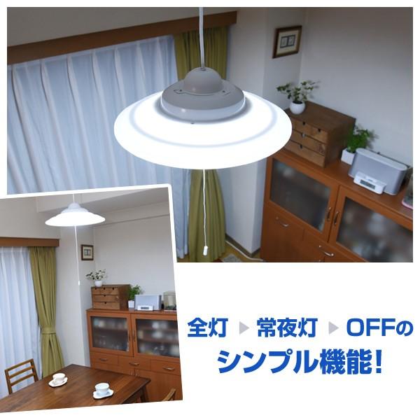全灯⇒常夜灯⇒OFFのシンプル機能!