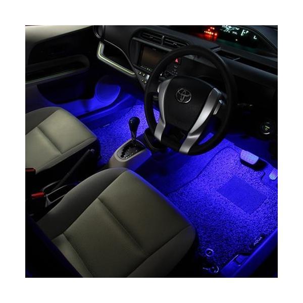 LED フットランプ / フットライト キット  | アクア(NHP10)専用 | エーモン/e-くるまライフ|e-kurumalife|07