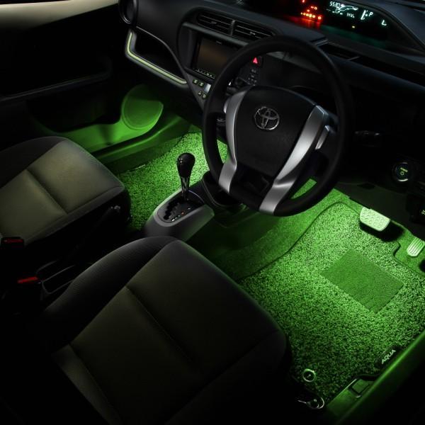 LED フットランプ / フットライト キット  | アクア(NHP10)専用 | エーモン/e-くるまライフ|e-kurumalife|10