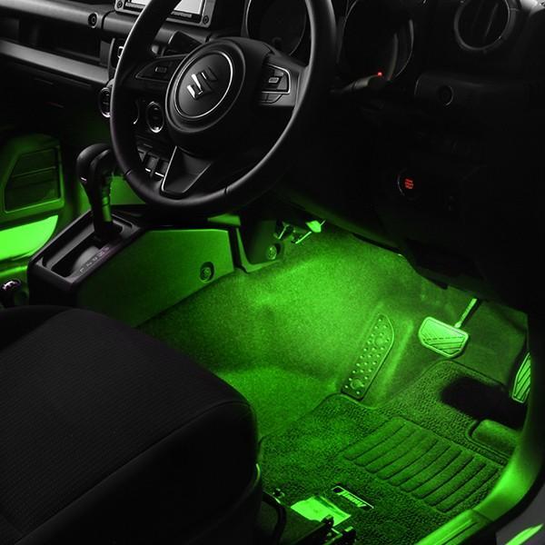 LED フットランプ / フットライト キット    ジムニー(JB64W)専用   e-くるまライフ.com/エーモン e-kurumalife 06