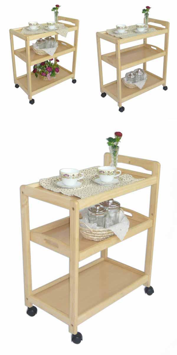 キッチンワゴンキャスター木製