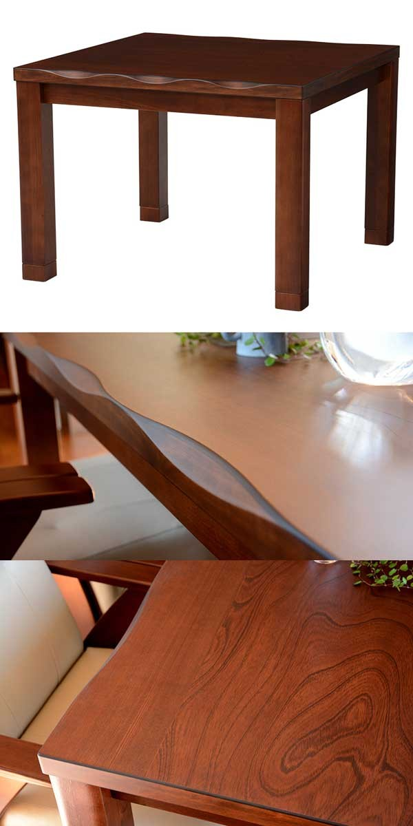 ダイニングこたつテーブルの画像