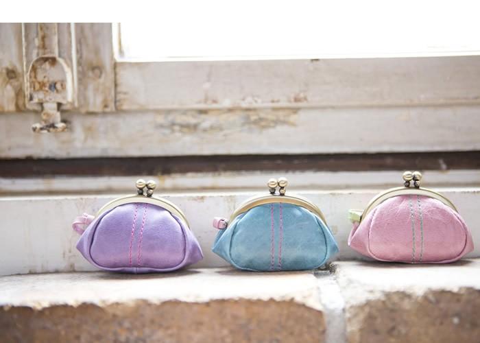 説明2 キュートなキャンディーカラーのミニがま口小銭入れ財布 pacca pacca がま口・レディース・女性用・婦人・革財布・日本製・国産・ガーリー