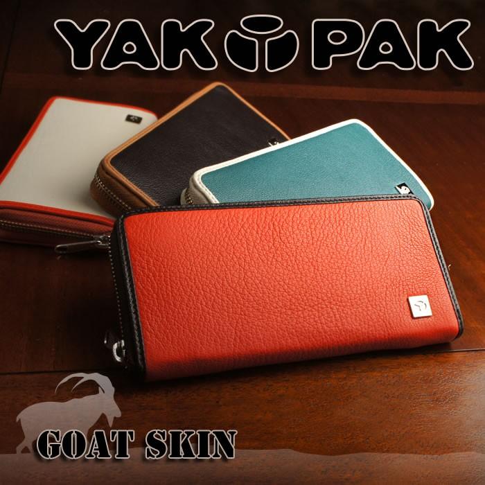 7398c6a29aa3 説明1|YAKPAK ヤックパック 長財布 財布 メンズ ゴートスキン 山羊 ヤギ ラウンドファスナー