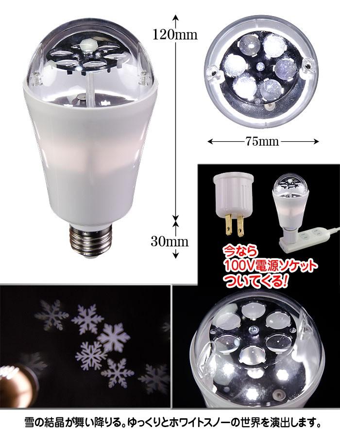簡単ミラーボールLED電球 クリスマスグッズ【HB02 LED Bulb】