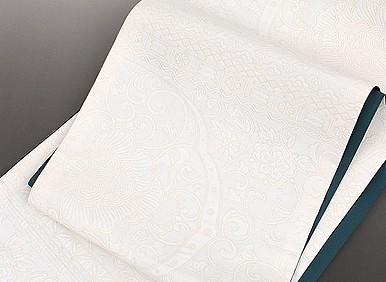 西陣織 謹製 膨れ織 アールヌーボー 全通織 袋帯