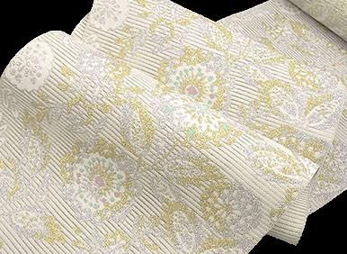 夏帯 博多帯 福絖織物 金彩絽綴れ 金印 八寸 名古屋帯