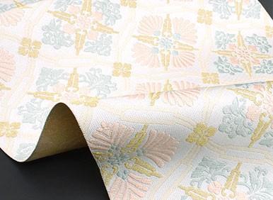 西陣織 名門 藤原織物 謹製 しょうは織 有職繋ぎ華文 九寸 名古屋帯