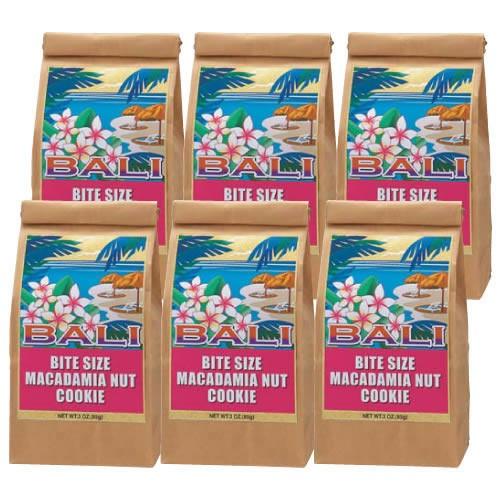 バリ マカダミアナッツクッキー 6袋セット