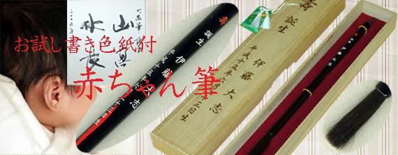 赤ちゃん筆(胎毛筆)