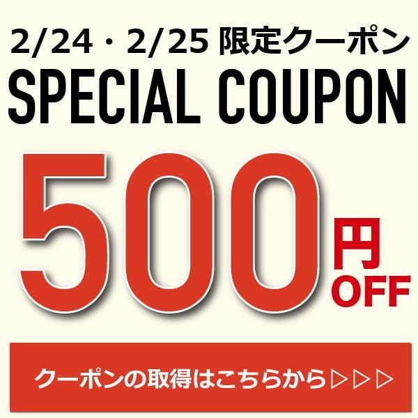 【2日間限定】2/24(日)0時より配布!【500円OFFクーポン】合計10,000円以上購入で全員対象