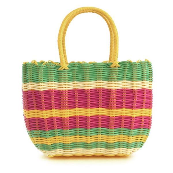 かごバッグ カゴバッグ ビニール トートバッグ レディース 収納 インテリア 鞄 バスケット 子供 エコバッグ ストローバッグ|e-zakkamania|20