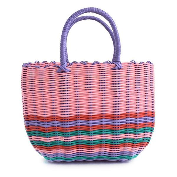 かごバッグ カゴバッグ ビニール トートバッグ レディース 収納 インテリア 鞄 バスケット 子供 エコバッグ ストローバッグ|e-zakkamania|21