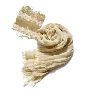 ストール 春夏 UV対策 レディース 羽織り 巻き物 シアー シースルー UVカット 紫外線カット 冷房対策 MIXネップ UV ナローストール|イーザッカマニアストアーズ