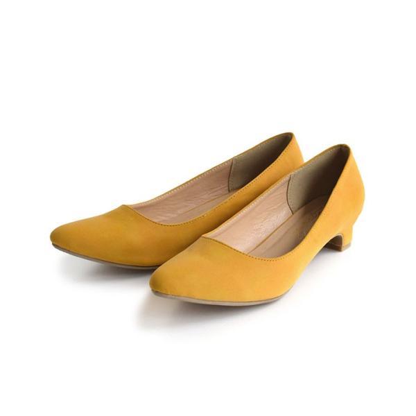 パンプス 3cmヒール ローヒール ポインテッドトゥ レディース 靴 痛くない ぺたんこ 楽ちん 走れる 結婚式 ブラック 黒 フォーマル 秋 冬 e-zakkamania 20