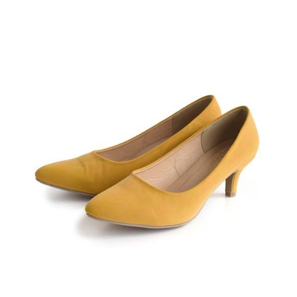 パンプス 痛くない 歩きやすい レディース 黒 結婚式 春 6cmヒール ポインテッドトゥ 靴 ブラック フォーマル ヒール happyyellow e-zakkamania 20