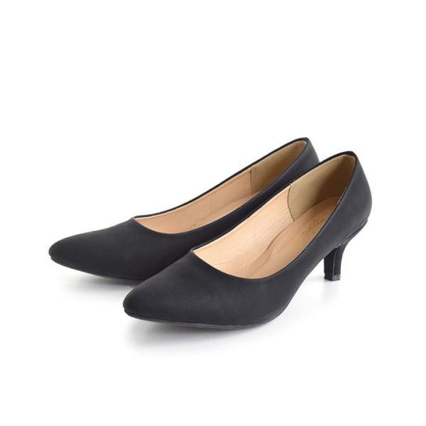 パンプス 痛くない 歩きやすい レディース 黒 結婚式 春 6cmヒール ポインテッドトゥ 靴 ブラック フォーマル ヒール happyyellow e-zakkamania 24