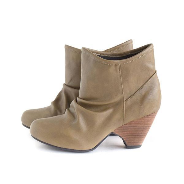 ショートブーツ レディース ブーティー ブーツ 歩きやすい 痛くない 秋 冬 フェイクレザー 婦人靴 チェック柄 無地|e-zakkamania|20