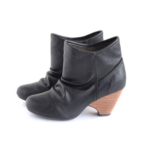 ショートブーツ レディース ブーティー ブーツ 歩きやすい 痛くない 秋 冬 フェイクレザー 婦人靴 チェック柄 無地|e-zakkamania|23