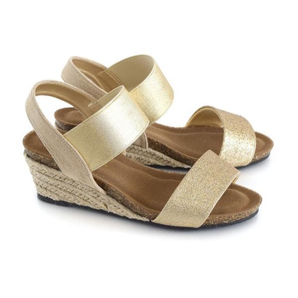 サンダル レディース ウェッジソール 夏 ゴムバンド 靴 シューズ 歩きやすい 脱げない ヒール 大きいサイズ ミュール アンクルストラップ e-zakkamania 20
